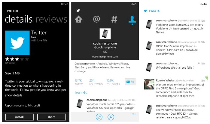 The official Twitter app for Windows Phone gets Vine support
