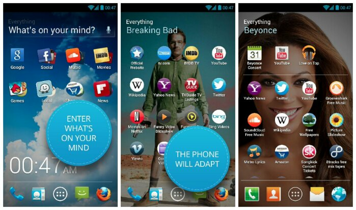 Everything.me Home   The dynamic Android Launcher