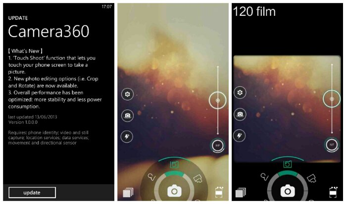 Camera360 for Windows Phone gets updated