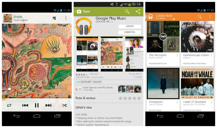 Google Play Music gets updated and it shouldnt gobble up as much data now