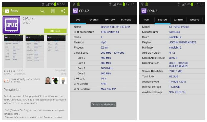 Popular CPU identification utility CPU Z is now available for Android