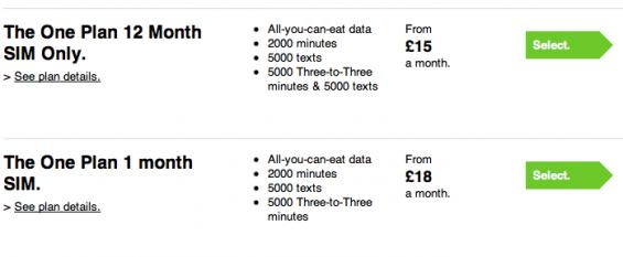 Three lower One Plan price