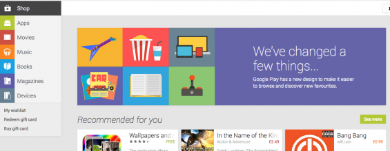 New Play store launches on web