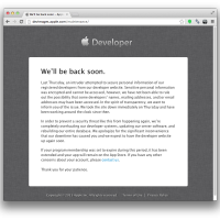 Apple dev down still