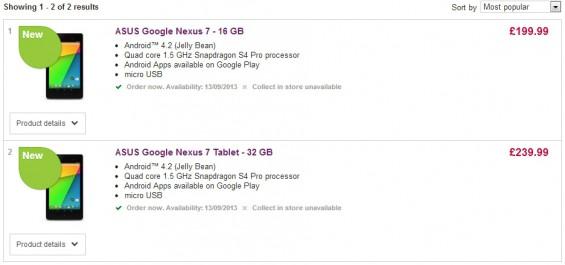 Nexus 7 hitting UK in September?