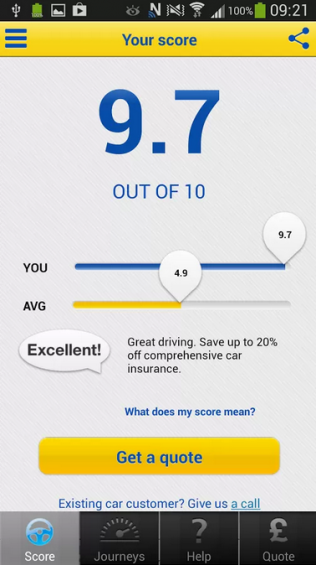 Save on your car insurance as you drive with ... an app!