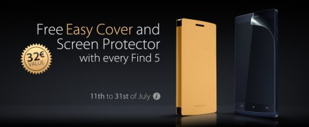 OPPO Find 5 comes with free case and screen protector for a limited time   Deal