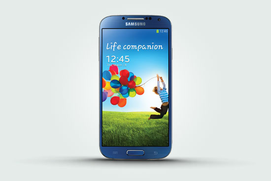 Arctic Blue Samsung Galaxy S4   Exclusive to Phones 4U