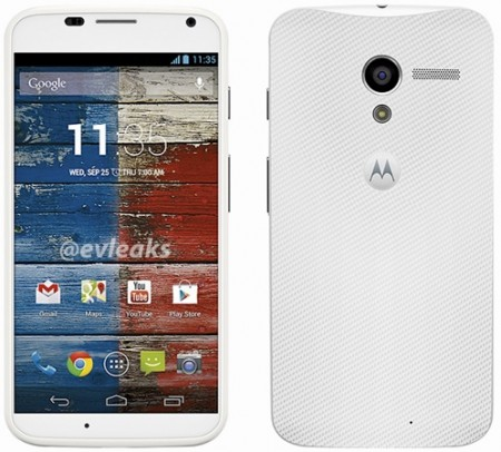 Moto X specs leak alongside white press renders
