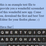 It's not just a text editor, it's a Firefox OS text editor