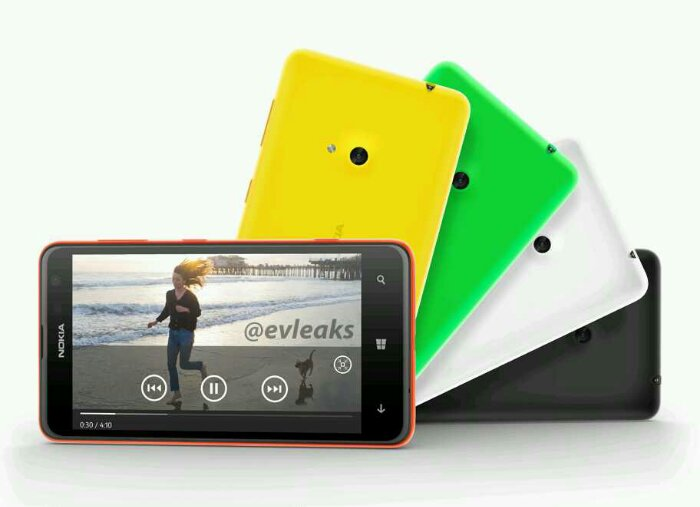 The Nokia Lumia 625 appears just before it is announced
