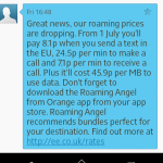 Roaming rates slashed. Now just £470 per GB!