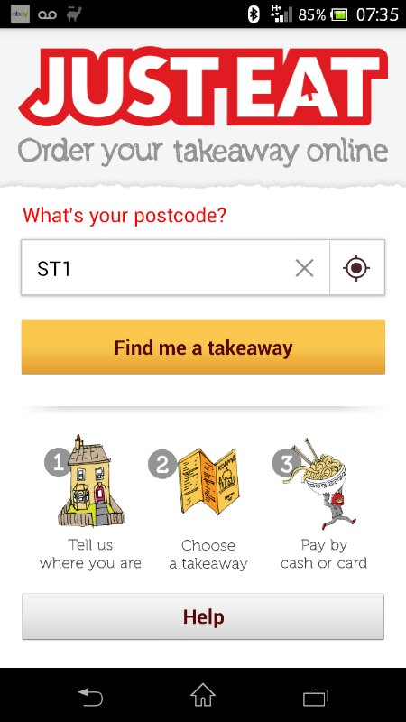 Order from local restaurants online with JUST EAT mobile app