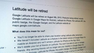 Goodbye Google Latitude