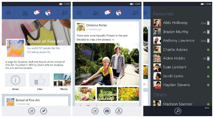 Facebook for Windows Phone gets a major update