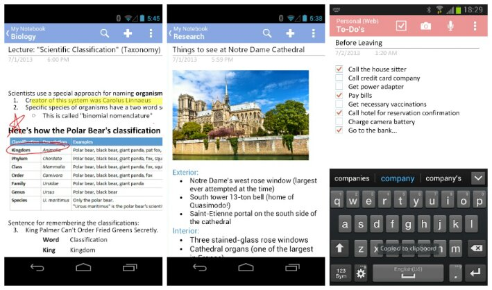 Microsoft update OneNote and Skype for Android