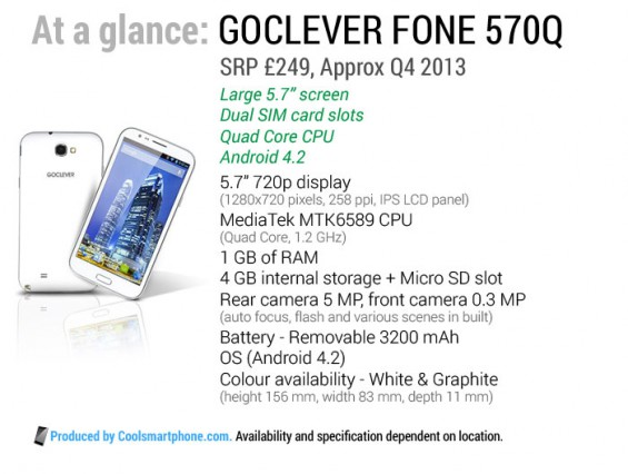 GOCLEVER FONE 570Q Graphic