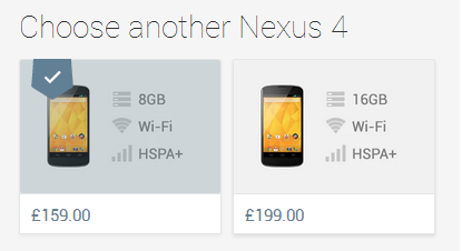 LG Nexus 4 is now available slightly cheaper on the UK Play Store
