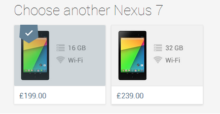 The new Nexus 7 is now available on the UK Play Store