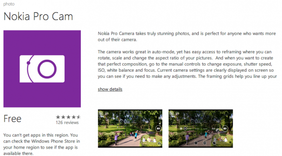 Nokia Pro Cam lands on 925 and 920