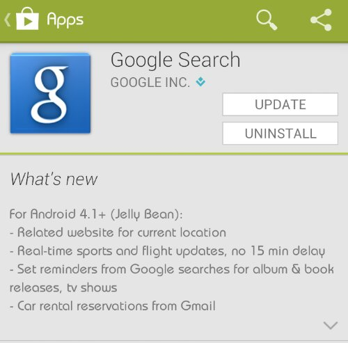 Google Search for Android gets an update