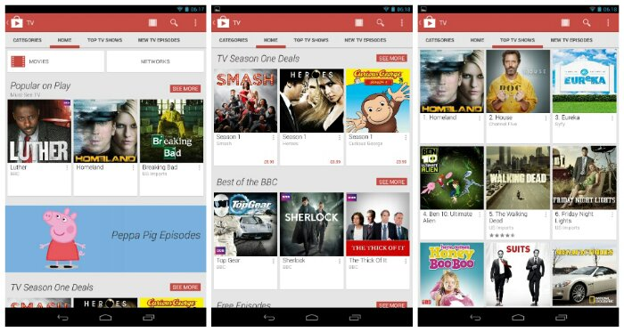 TV shows are now available on the Google Play Store