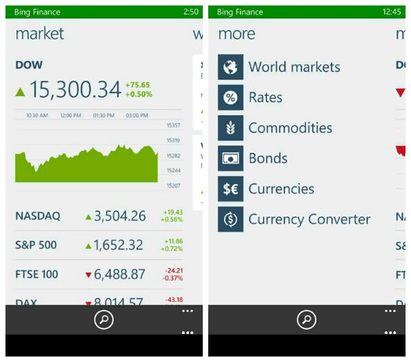 Microsoft release a range of Bing apps for Windows Phone