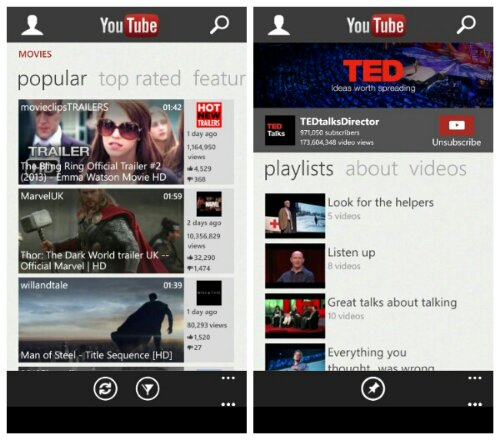 Microsoft re release that nice YouTube app for Windows Phone
