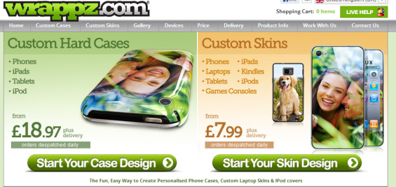 Wrappz   Personalised mobile phone cases, skins and covers