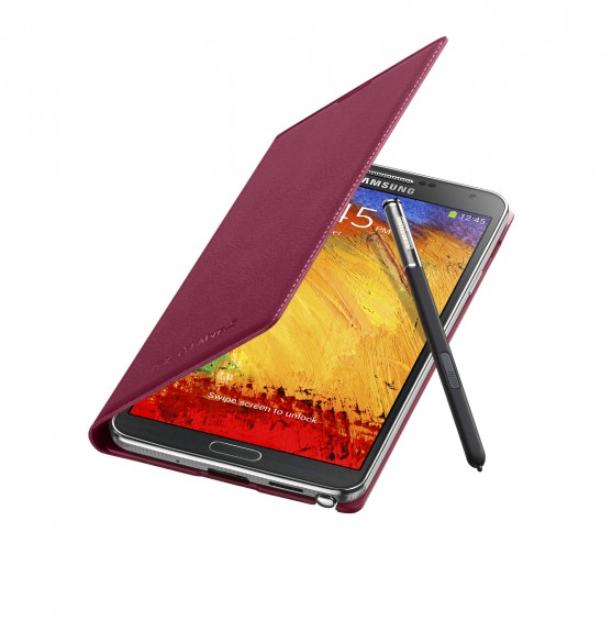 Galaxy Note3 FlipCover 004 Open Pen Plum Magenta