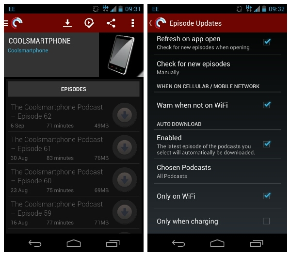 Pocket Casts for Android gets an auto download update