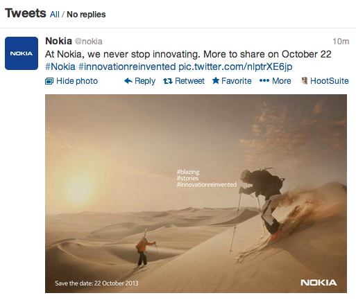 Nokia confirm 22nd October event