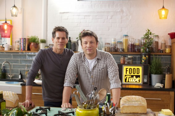 Oliver cooking with Bacon in new EE digital campaign