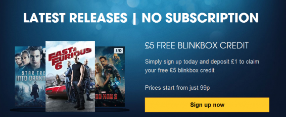 Tesco offers half price Blinkbox action