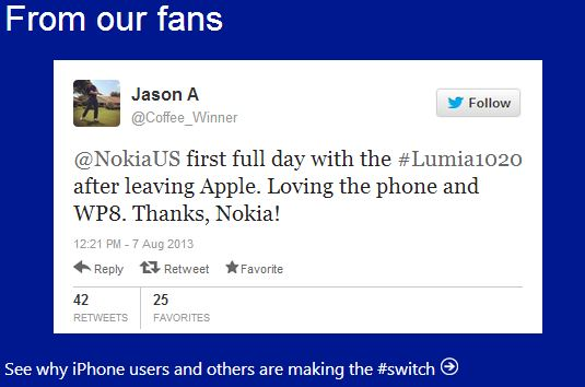 Microsoft come out fighting   Lumia 1020 vs iPhone 5s