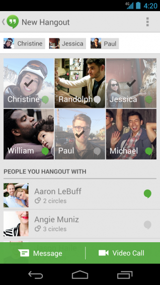 New version of Hangouts on the way for Android