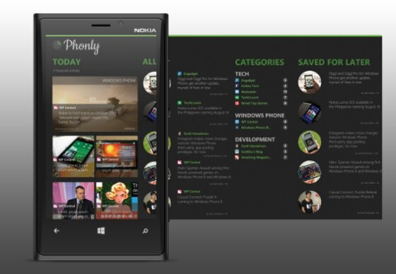 Phonly for Windows Phone is the answer to all of your Feedly needs