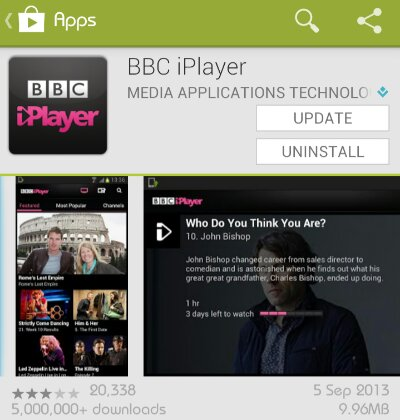 BBC iPlayer for Android updated   Now supports downloads!
