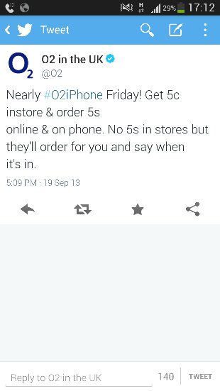 Tomorrow is iPhone Day, but O2 wont have any 5s handsets in store