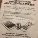 NYPD tells Apple users to update to iOS 7