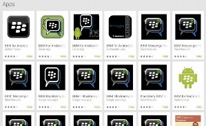 Google Play full of fake BBM apps.