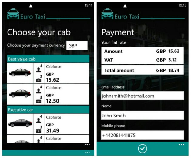Euro Taxi for Windows Phone helps you hail that cab