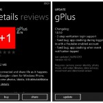 gPlus for Windows Phone offers a usable Google+ service