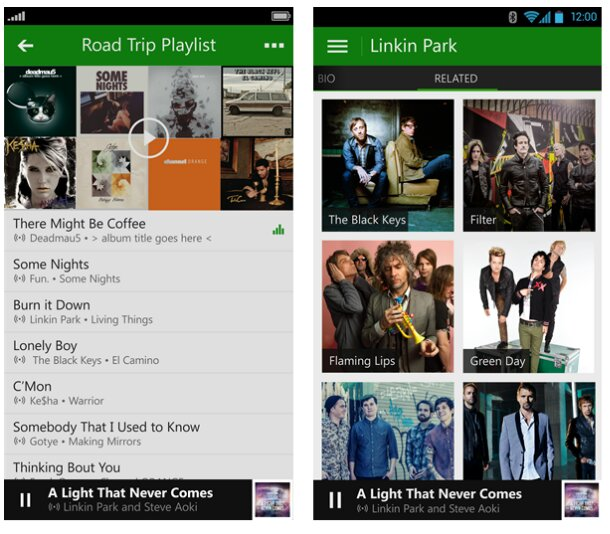 Xbox Music for Android and iOS should be available today
