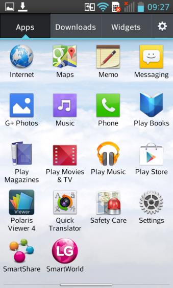 LG L7 App Drawer 2