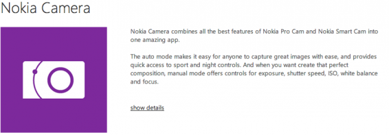 Nokia Camera app updated