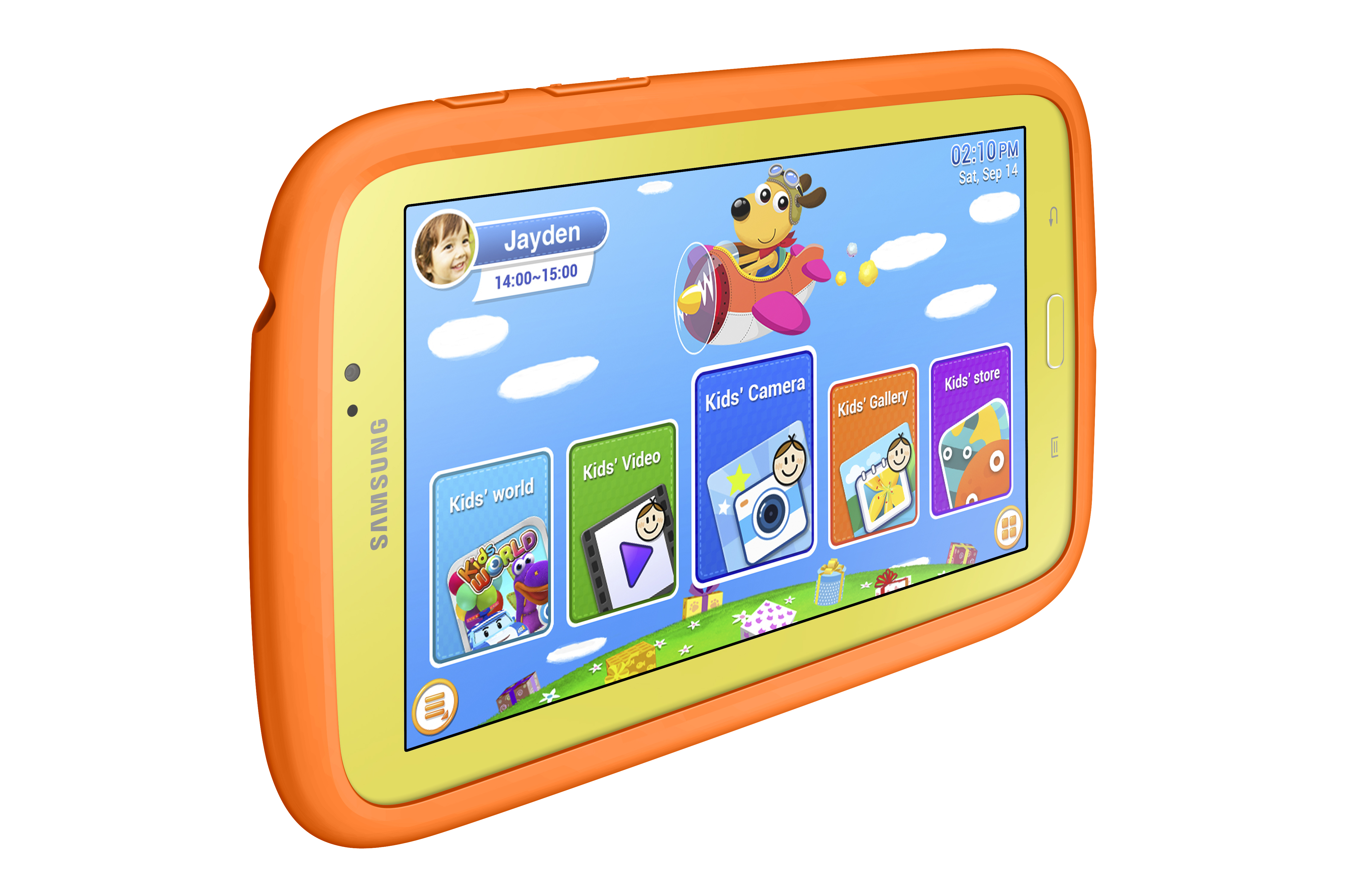 An integrated bumper case protects this device from drops and falls, and parental controls let you limit the time your little ones can play. With apps from Dreamworks, Sesame Street and National Geographic, the Samsung Kids Tab E Lite makes learning fun.