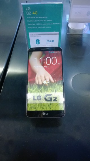 LG G2 coming to EE