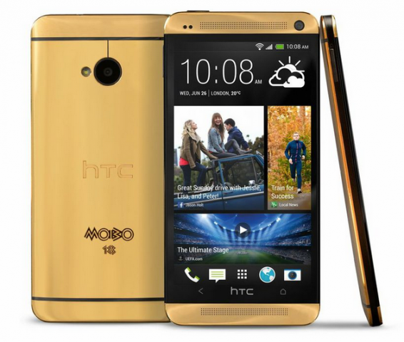Gold HTC One official... with a twist