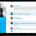 Skype updated for tablets